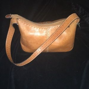 Fossil tan leather bag